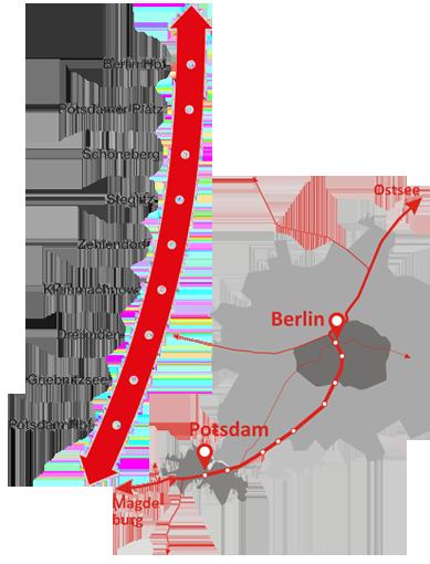 Berlin Potsdam Karte.Bürgerinitiative Stammbahn Schnell Umweltfreundlich Für Die